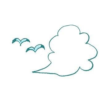 구름과 갈매기