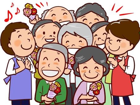 Celebration for the elderly
