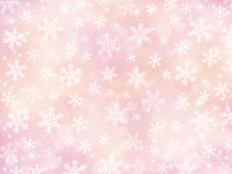 Snow crystal background material (pink)