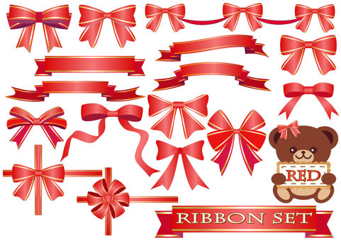 Ribbon set (red)