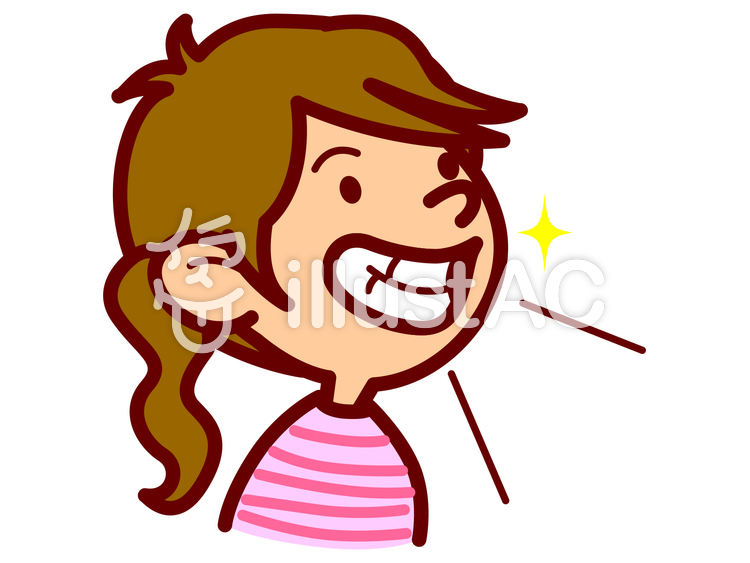 歯のきれいな女の子イラスト No 666121無料イラストならイラストac