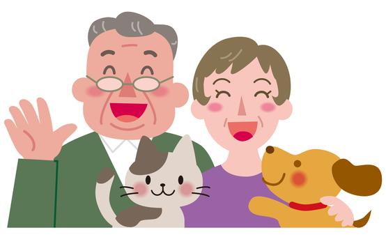 부부와 애완 동물