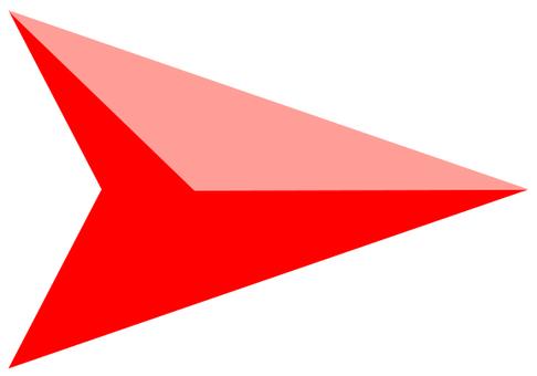 矢印 カーソル 赤07