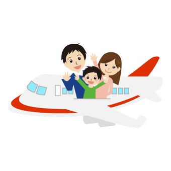Family trip by plane
