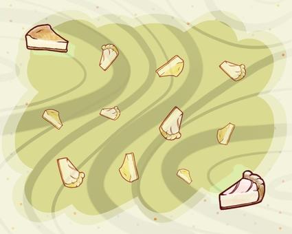 Cake card (cheese)