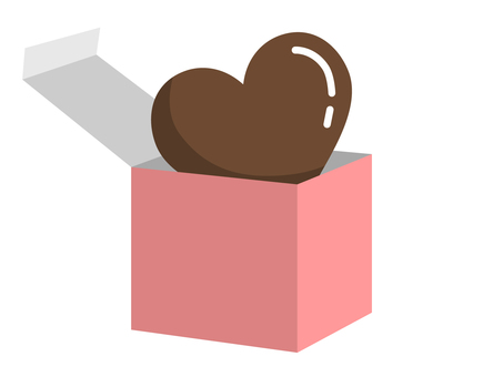 Heart chocolate from the box (pink)