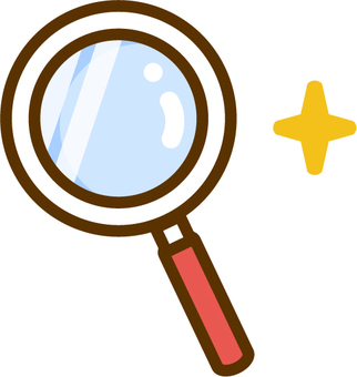 Magnifying glass illustration