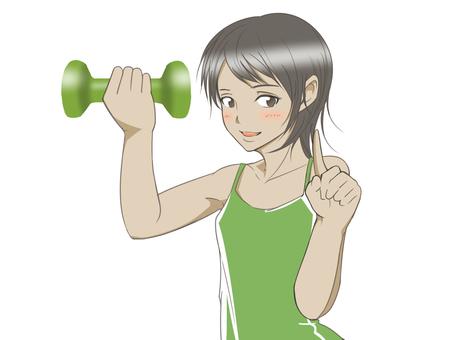肌肉訓練女孩1