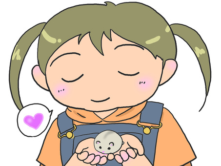 Hamster and child