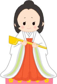 Hinamatsuri three people official woman Nagaku Choshi