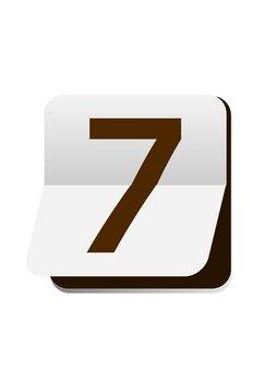 숫자 (7) 넘겨 판