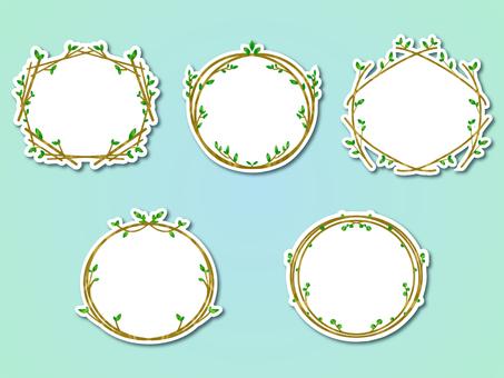 Sticker style plant frame