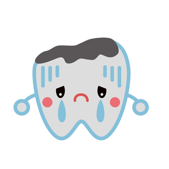 Tooth decay character cute