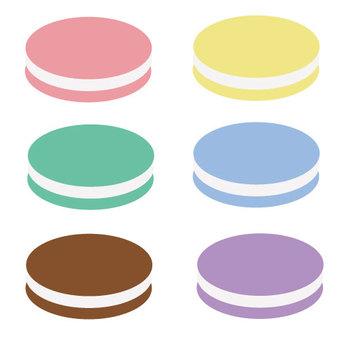 6 types of macaroons set