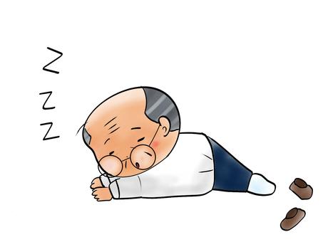 Uncle falls asleep
