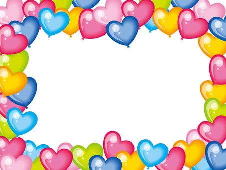 Heart balloon frame
