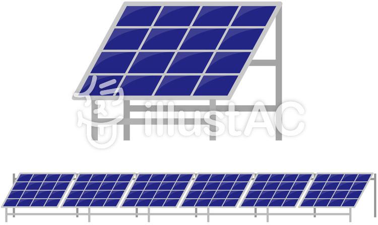 ソーラー発電ソーラーパネル太陽光発電イラスト No 196154無料
