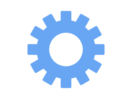 Gears setting gear parts silhouette blue