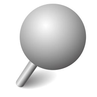 Push pin gray