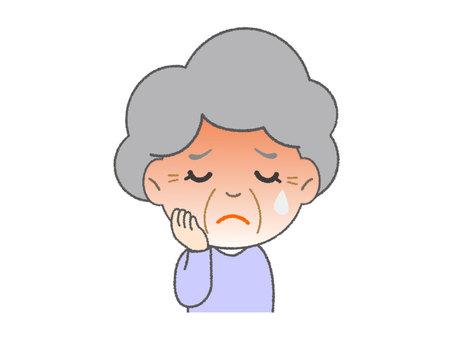 熱があるおばあちゃん