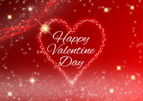 Valentine background with hearts and starry sky