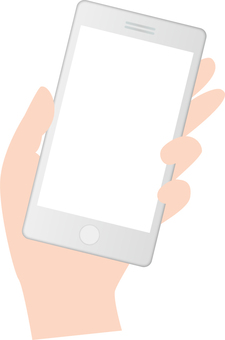 Hand with a smartphone