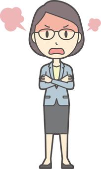 Suit women glasses-226-whole body