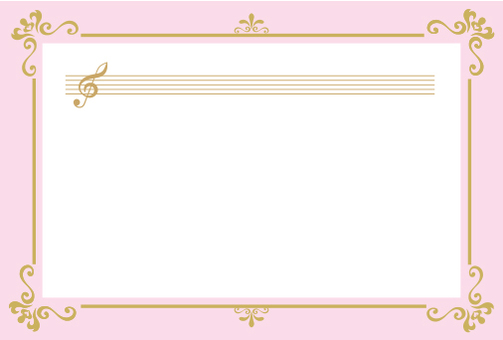 Decoration frame of the tone symbol Pink