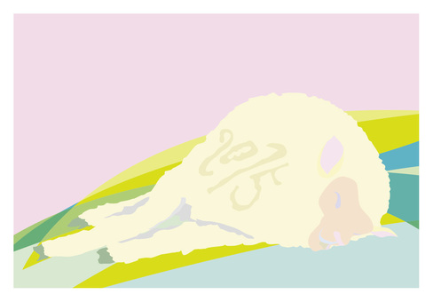 A postcard of sheep's postcard