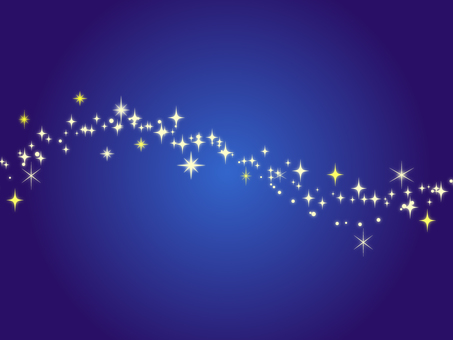 The sparkling background of the stars Blue