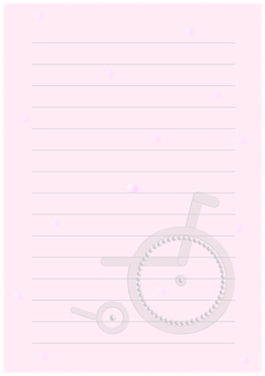 Wheelchair Sakura Stationery 1