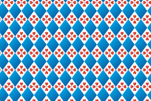 Simple heart pattern separately