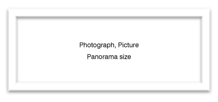 Panoramic frame white