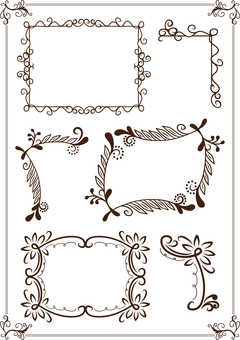 Frame decoration material