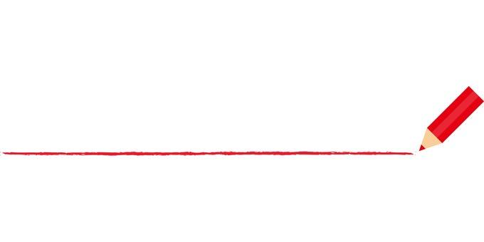 빨간색 연필 선
