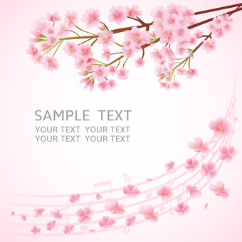 Japanese style background cherry - 6