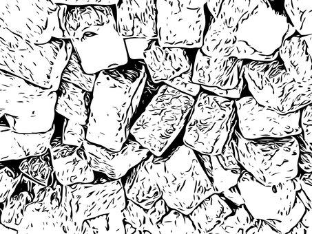 Monochrome texture stone block