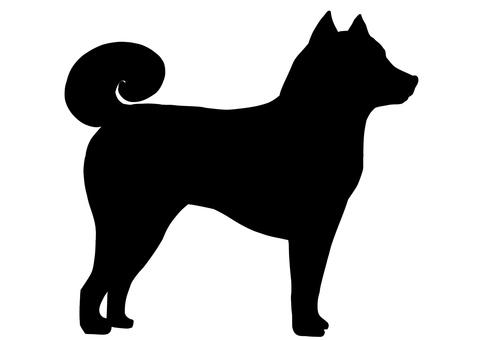 柴犬 シルエット
