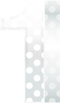 ai Three-dimensional figure of polka dot pattern 1