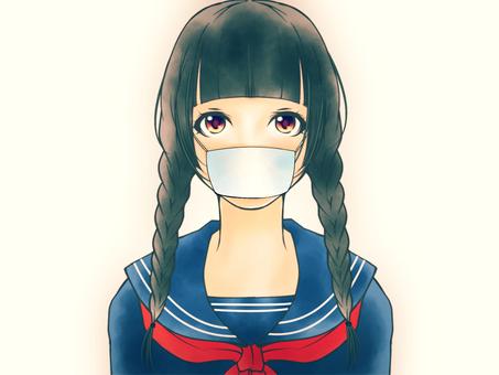 Serious girls (mask)