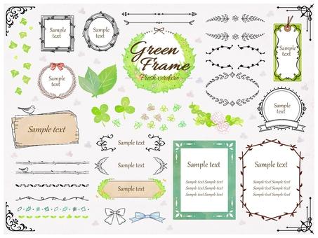 Fresh green natural frame material