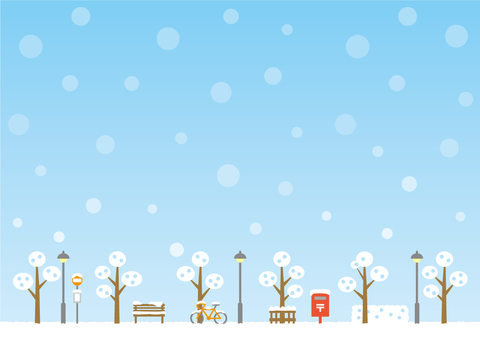 Background (sky and promenade during winter)