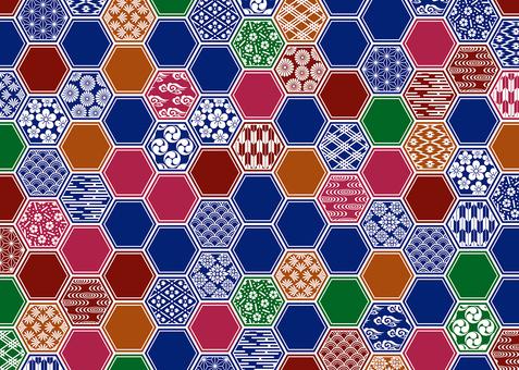 Hexagonal Hexagon (White, White, Multicolor)