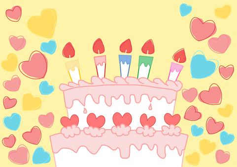 핑크 크림 케이크 크림