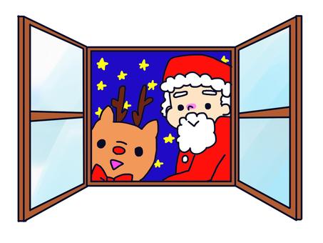창문에서 산타