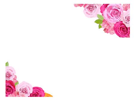 꽃 프레임 장미 3
