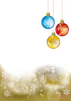 Snow Crystal Ornament ball 25