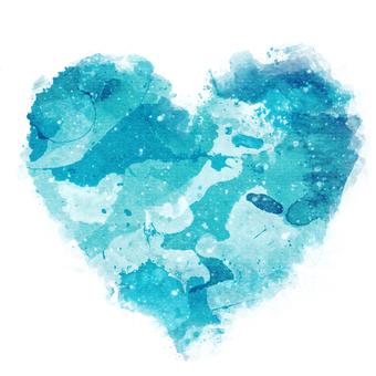 Watercolor Heart 8