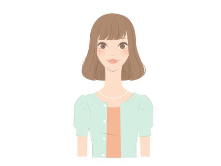 Female upper body icon 4