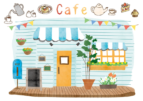 Illustration _ Cafe _ watercolor breeze